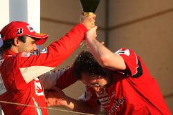 Podium: second place Felipe Massa, Scuderia Ferrari, Stefano Domenicali Ferrari General Director