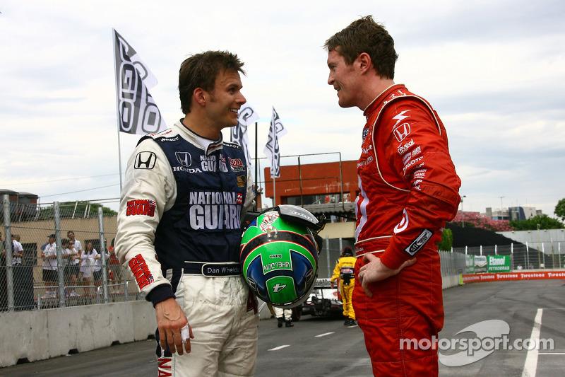 Dan Wheldon, Panther Racing en Scott Dixon, Target Chip Ganassi Racing