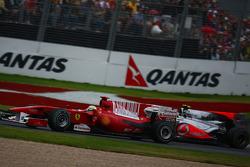 Felipe Massa, Scuderia Ferrari et Lewis Hamilton, McLaren Mercedes