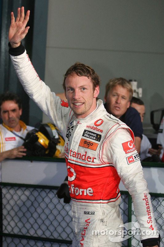 Race winnaar Jenson Button, McLaren Mercedes