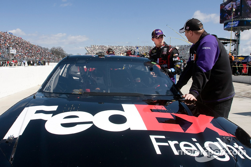 Denny Hamlin, Joe Gibbs Racing Toyota avec Mike Ford