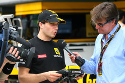 Jerome D'Ambrosio, Test Driver, Renault F1 Team and Gaetan Vigneron RTBF Belgian TV