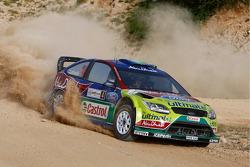 Jari-Matti Latvala et Miikka Anttila, Ford Focus RS WRC08, BP Ford Abu Dhabi World Rally Team