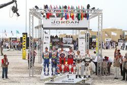 Podium: vainqueurs Sébastien Loeb et Daniel Elena, 2e  Jari-Matti Latvala et Miikka Anttila, 3e Petter Solberg et Philip Mills