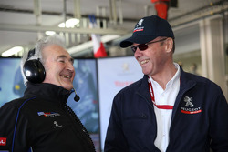 Hugues de Chaunac and Peugeot Sport director Olivier Quesnel