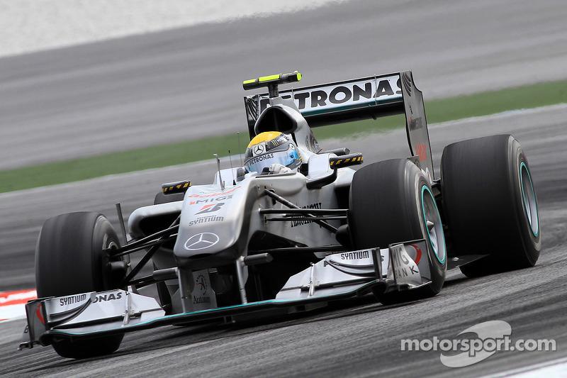 2010: Primeiro pódio da Mercedes