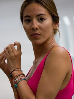 Jenson Button's girlfriend, Jessica Michibata