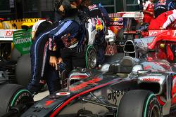 Sebastian Vettel, Red Bull Racing takes a look at the McLaren