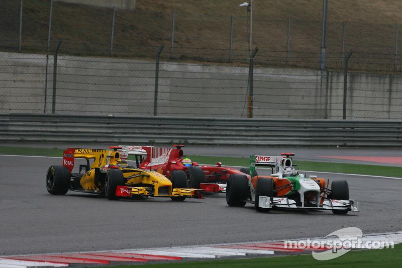 Robert Kubica, Renault F1 Team en Adrian Sutil, Force India F1 Team