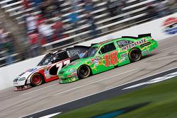 Kyle Busch, Joe Gibbs Racing Toyota and Sam Hornish Jr., Penske Racing Dodge