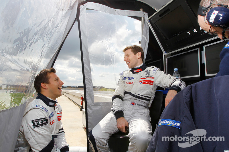 Christian Klien en Anthony Davidson