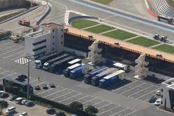Paddock aerial view