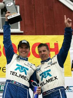 DP podium: class and overall winners Scott Pruett and Memo Rojas