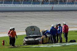 Jeff Burton, Richard Childress Racing Chevrolet crashes