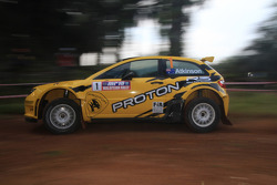 Chris Atkinson with co-driver Stéphane Prévot of Proton R3 Malaysia