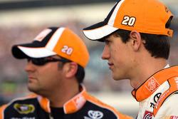 Joey Logano, Joe Gibbs Racing Toyota and crew chief Greg Zipadelli