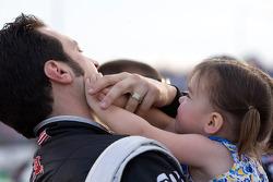 Sam Hornish Jr., Penske Racing Dodge and daughter Addison