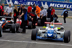 James Calado drives to pole position on the grid