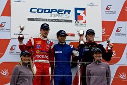 National class podium: James Cole, Menasheh Idafar and Luiz Razia