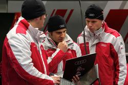 Audi Sport team members at work
