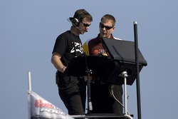 Kyle Busch nationwide chef d'équipe, Jason Ratcliff, et chef d'équipe, Dave Rogers