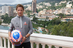 Jenson Button, McLaren Mercedes with Monaco editiion helmets and steering wheels with Steinmetz Diamonds