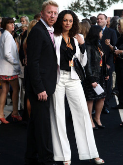 Boris Becker and his wife Sharlely Becker-Kerssenberg, Amber Lounge Fashion Show