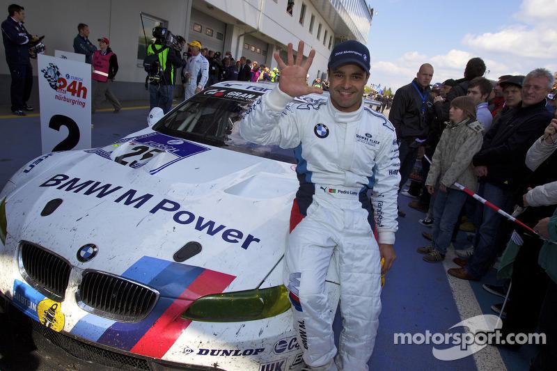 Race winnaar Pedro Lamy