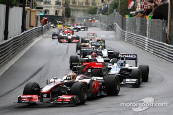 The start of last year's Monaco GP