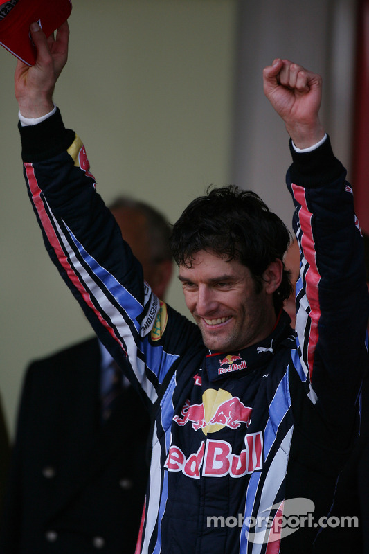 Podium: 1ste Mark Webber, Red Bull Racing
