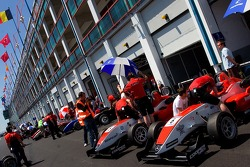 F3 cars in the pitlane