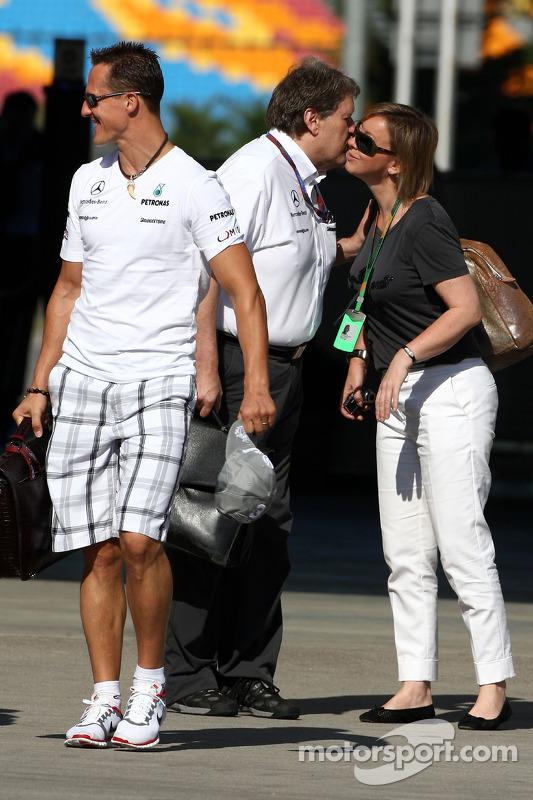 Michael Schumacher, Mercedes GP, Norbert Haug, Mercedes, Motorsport chief, Sabine Kehm, Michael Schumacher's persdame