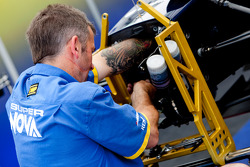 A Super Nova mechanic at work