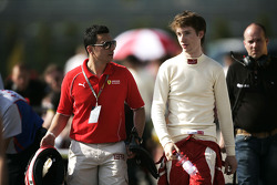 Mirko Bortolotti with the Ferrari young driver coach