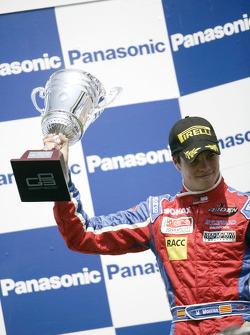 Miki Monras celebrates on the podium