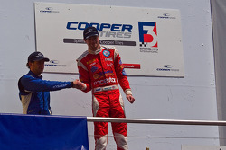 National Class Podium: from left Menasheh Idafar and James Cole
