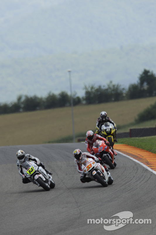 Randy De Puniet, LCR Honda MotoGP en Marco Melandri, San Carlo Honda Gresini