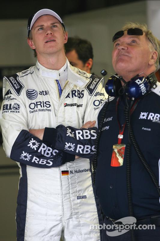 Nico Hulkenberg, Williams F1 Team en Patrick Head, WilliamsF1 Team, Director of Engineering