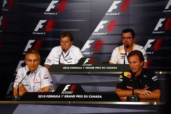 Martin Whitmarsh, McLaren, Chief Executive Officer with Norbert Haug, Mercedes, Motorsport chief, Eric Boullier, Team Principal, Renault F1 Team and Christian Horner, Red Bull Racing, Sporting Director