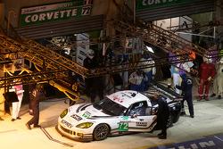 Pit stop for #72 Luc Alphand Aventures Corvette C6.R: Stephan Gregoire, Jérôme Policand, David Hart