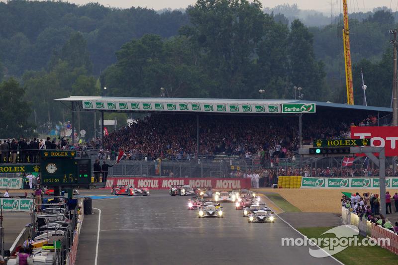 Start: #3 Peugeot Sport Total Peugeot 908: Sébastien Bourdais, Pedro Lamy, Simon Pagenaud
