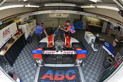The car of Takuma Sato, A.J. Foyt Enterprises Honda