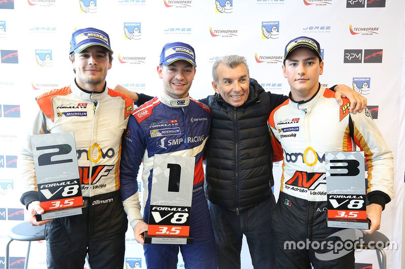 1er Matthieu Vaxiviere, SMP Racing, 2e Tom Dillmann, AVF, 3e Alfonso Celis Jr., AVF avec Jaime Alguersuari Sr