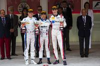 Podium: race winner Nobuharu Matsushita, ART Grand Prix, second place Marvin Kirchhofer, Carlin, third place Raffaele Marciello, RUSSIAN TIME