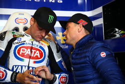 Alex Lowes, Pata Yamaha Official WorldSBK Team, y su hermano Sam Lowes