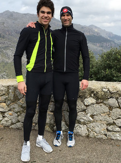 Lance Stroll and David Whiteman in Mallorca