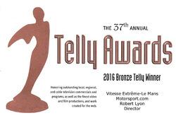 Bronze Telly Award: Vitesse Extrême Le Mans
