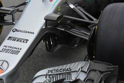 Mercedes AMG F1 W07, dettaglio anteriore