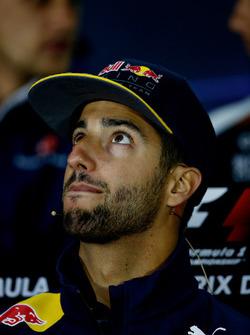 Daniel Ricciardo, Red Bull Racing en la Conferencia de prensa de pilotos