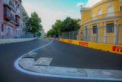 Baku city circuit at turn 15